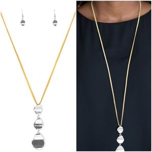 EMBRACE THE JOURNEY YELLOW NECKLACE/EARRING SET